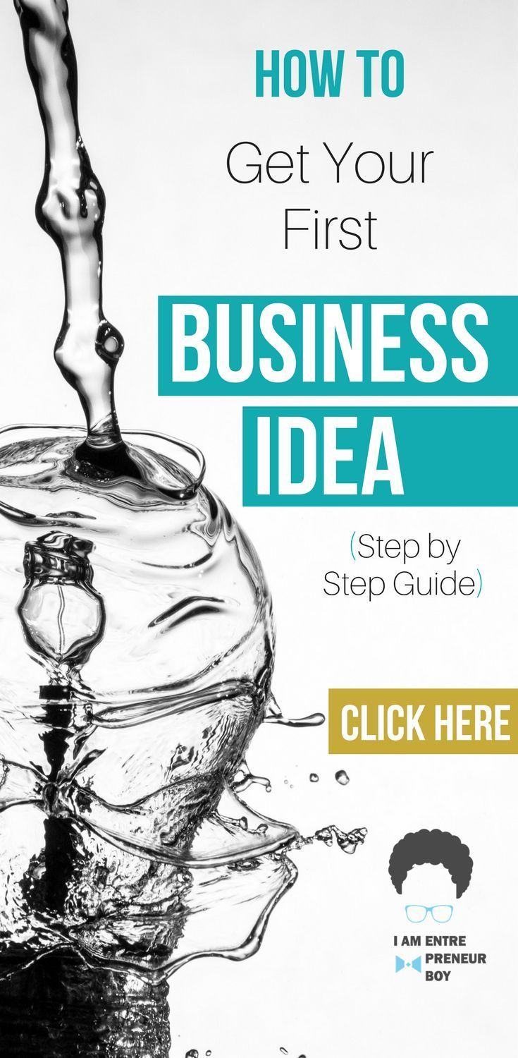 we show you step by step how to get your first business idea ...