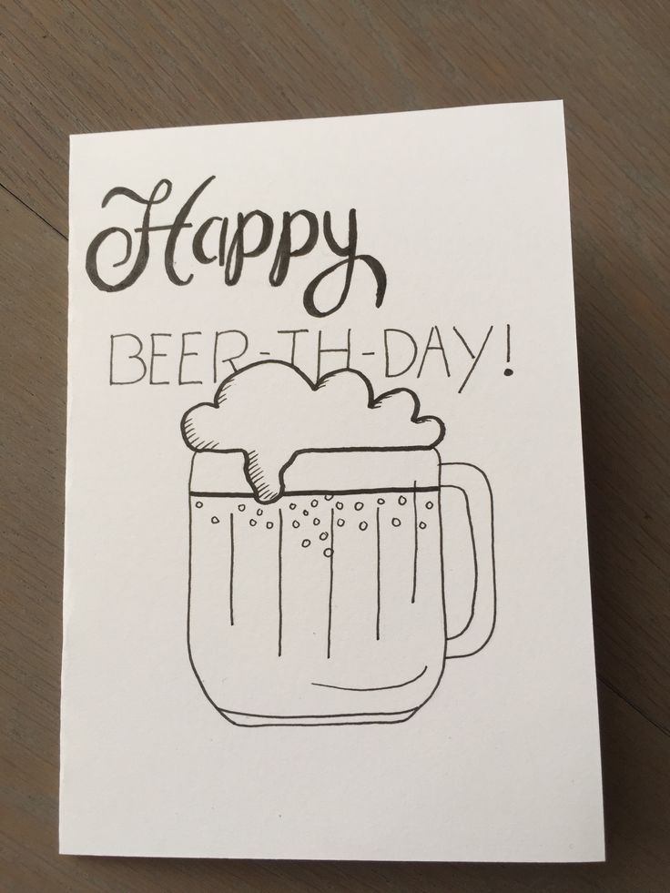 Handlettering | happy birthday | beer | beer-th-da…