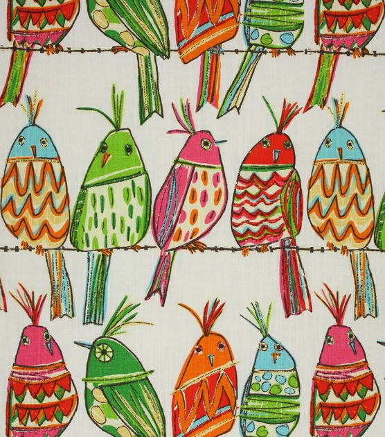 Richloom Studio Upholstery Print Fabric-Ginger Rainbow