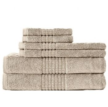 dream castle egyptian cotton towels in beige - Egyptian Cotton Towels
