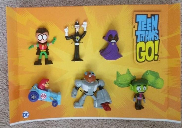 MCDONALDS HAPPY MEAL TOY 2017 Teen Titans Complete Set 1 2 3 4 5 6 Display New  | eBay