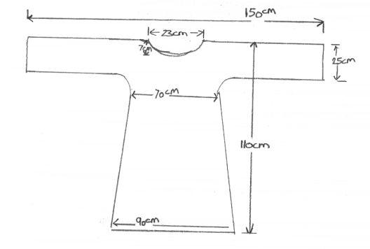 Roman tunic pattern and instructions.