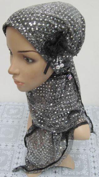 Beautiful Muslim hijab islamic scarf with flower 2014 latest fashion