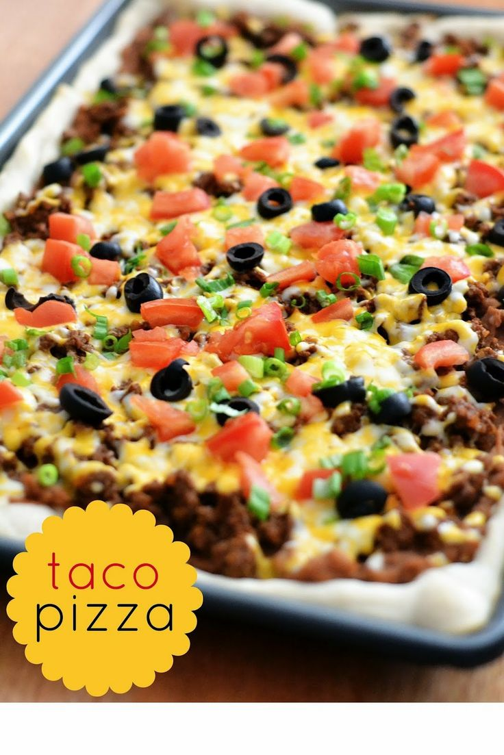 The Best Healthy Recipes: Taco Pizza (taco night alternative) :) Use a gluten free crust!