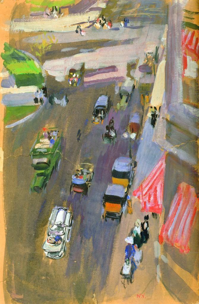 'Fifth Avenue, Nueva York' (1911) by Joaquín Sorolla
