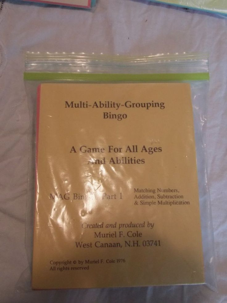 Multi-Ability Grouping Bingo Part III Division Muriel F Cole Game