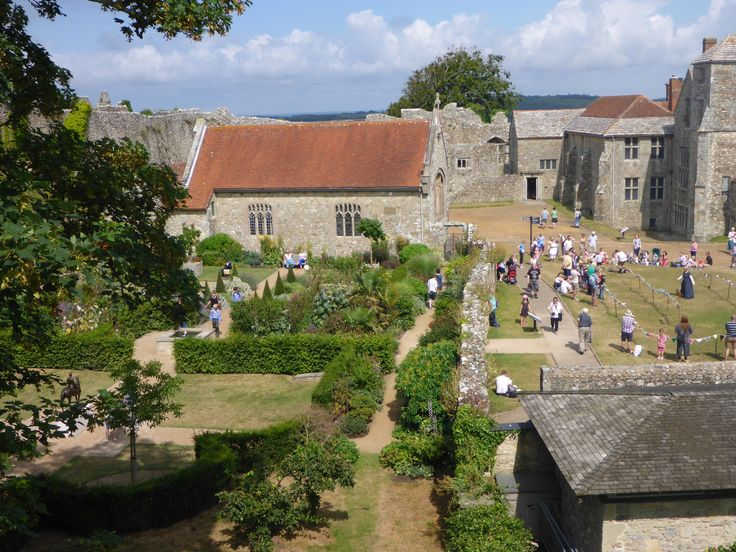 Carisbrooke Castle.  The view from the ramparts.