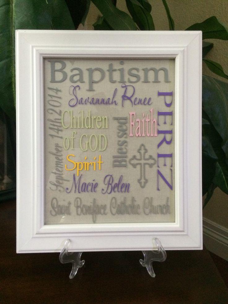 Baptism Subway Art www.facebook.com/XpressiveDesignsVinyl