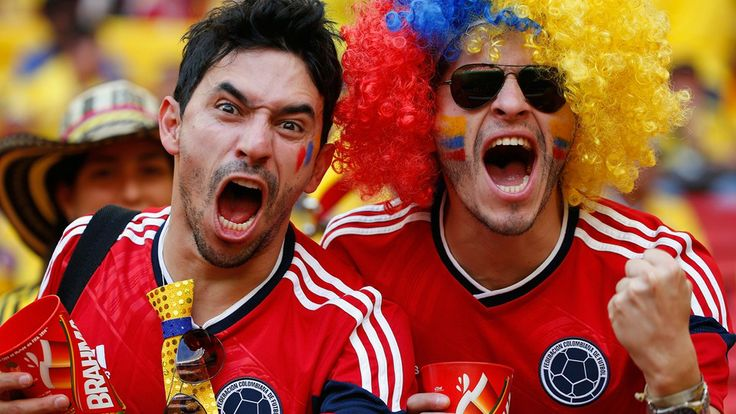 Colombia fans enjoy the atmosphere prior to the 2014 FIFA World Cup Brazil Group C match between Colombia and Cote D'Ivoire at Estadio Nacional on June 19, 2014 in Brasilia, Brazil.