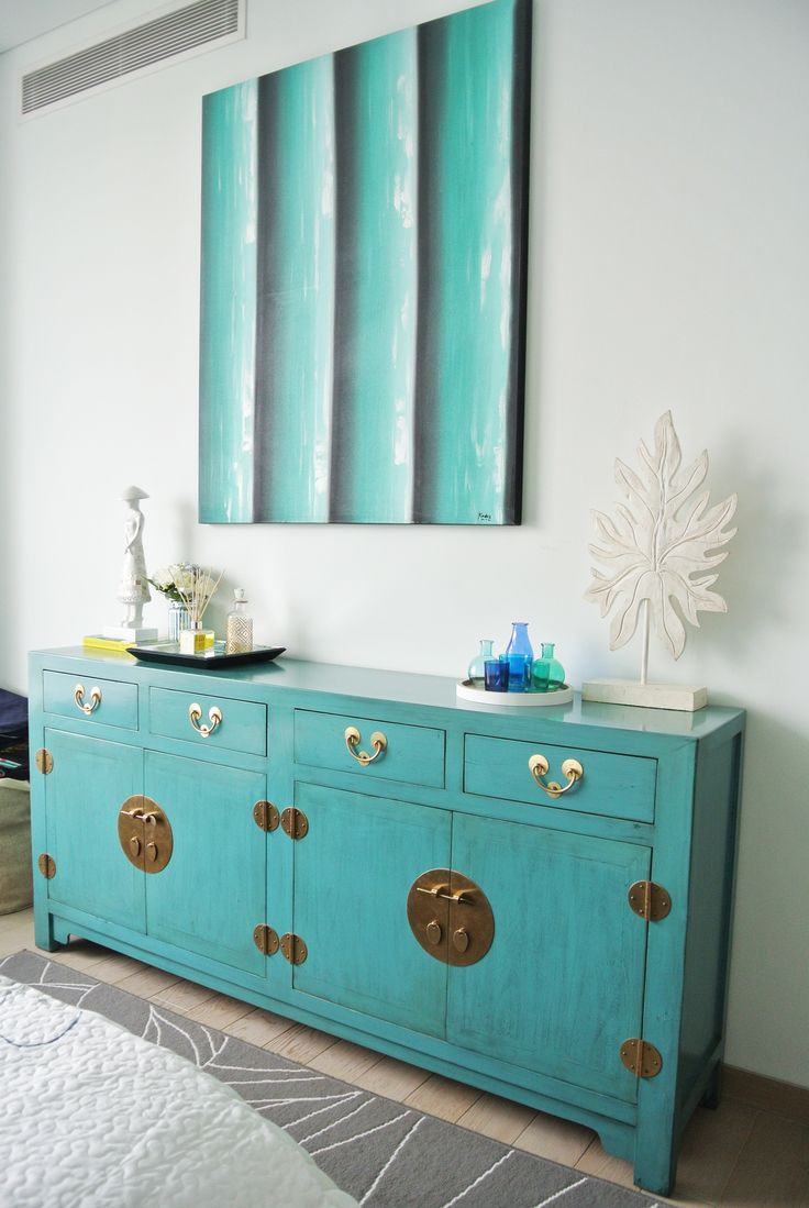 oriental furniture perth. This Refurbished Aqua Blue Cabinet (complimented By That Painting!) Adds A Chic Pop Of Colour To An Otherwise Neutral Space Oriental Furniture Perth V