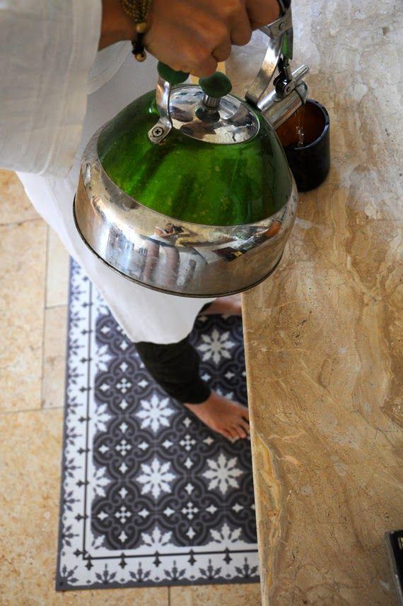 """Tappeti in vinile Beija Flor...per un effetto sorpresa Foto """"pinnata"""" dalla nostra lettrice Rétro and design"""