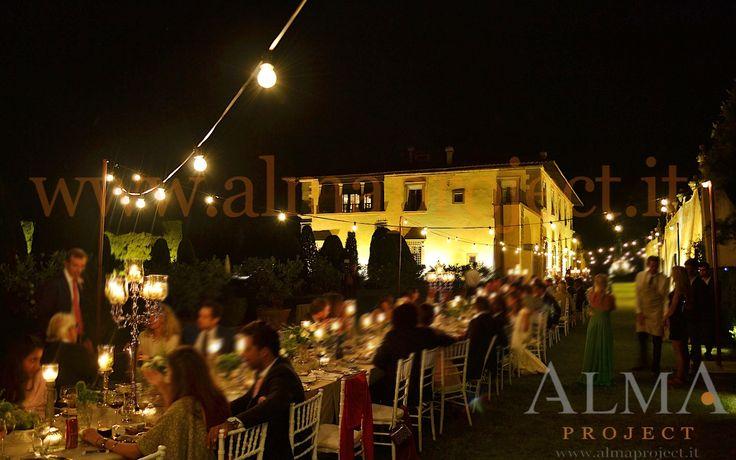 ALMA PROJECT @ Gamberaia - Light BULBS string fairy 1 Facade amber uplights