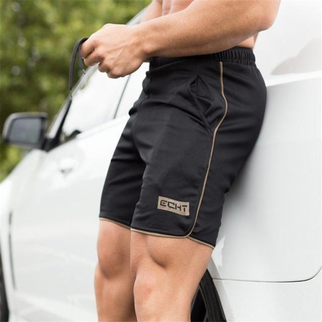 Hommes Gym La Musculation Faire des Exercices Men Short Coton