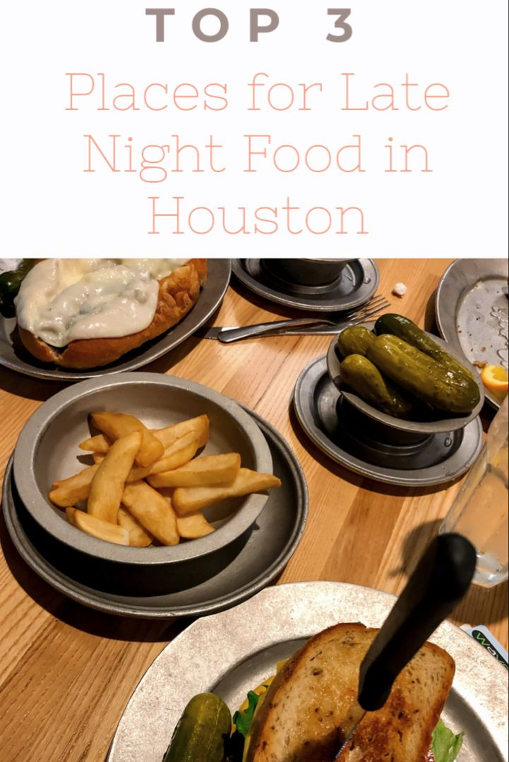 Where To Eat On A Late Night In Houston All Of These Food Places Are Near Downtown Houston Katz Deli House Of Pies Night Food Late Night Food Food Places
