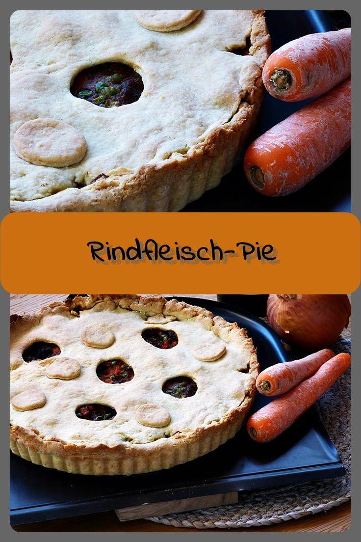 Rindfleisch-Pie Bei einem Pie handelt es sich um ein herzhaftes gefülltes gebackenen Kuchen. Es ähnelt einem Mürbeteig und ist daher nichts kalorienarmes...  Fü...
