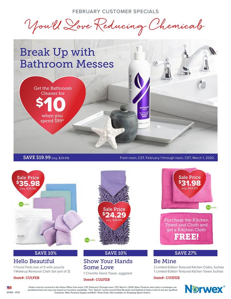 Get in the Valentine's Day spirit while safely cleaning