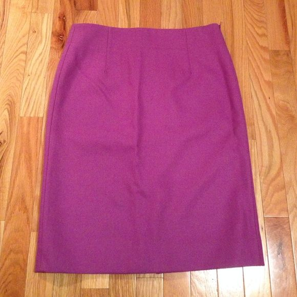 Beautiful JCrew 100% wool purple pencil skirt Light purple Jcrew 100% wool pencil skirt. Excellent condition. Fits loose on me because I'm usually a size 2 in jcrew. The skirt is a beautiful color and can be transitioned into fall/winter with some booties and a cute sweater! J. Crew Skirts Pencil
