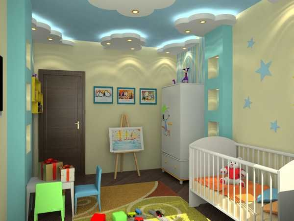 22 modern kids room decorating ideas that add flair to ceiling designs cloud ceiling ceiling - Room kids decoration ...