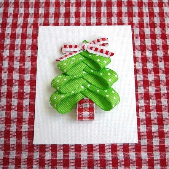 Christmas Tree Hair Clip von PolkaDotSkies auf Etsy