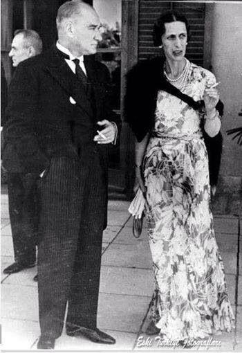 Atatürk ve İsveç prensesi Louise