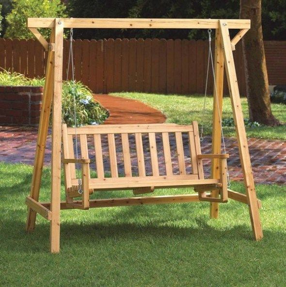Awesome garden arbors furniture swinging bench free plans like fuck