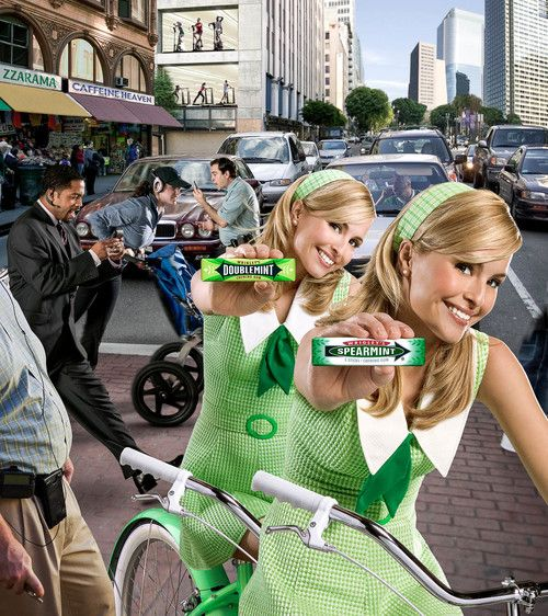 This Is An Ad Taken From A Vintage Magazine Wrigley S Gum Doublemint And Spearmint Featuring The Twins