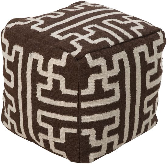 Gramercy Pouf   Chocolate. This Square Pouf Has A Distinctive, Stylish  Pattern That Is