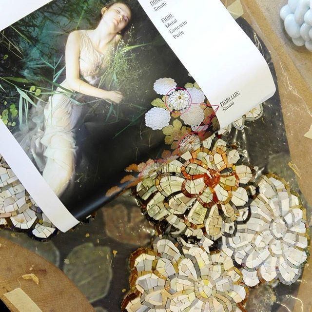 Mosaico+ Artistic Mosaic - Ofelia (Work in Progress)  |When a project becomes art...| #mosaicopiu #moruzzi #mosaic #decor #design #art #smaltiveneziani #venetianenamels #mosaicoartistico #mosaico #artisticmosaic #madeinitaly #handmade #craftmanship