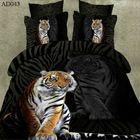 Conception animale vente chaude 100% polyester reine taille tigre imprimé 3d draps de gros