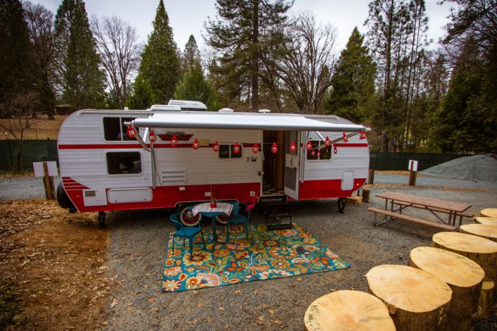 Check out the Inn Town Campground's new Riverside Retro, available for rent, for those who want to try RVing, but don't want to bring the trailer.