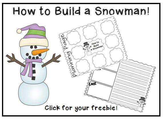 How to build a snowman writing freebie i 39 m a teacher for How to make a snowman