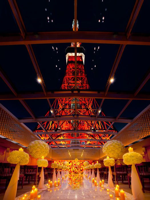 東京タワーに一番近いチャペル、夜は幻想的♡チャペルでの結婚式おしゃれまとめ♡ウェディング・ブライダルの参考に♪