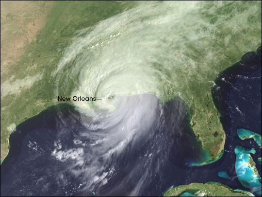 Louisiana - Hurricane Katrina, storm impacts
