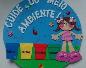 Placa De Porta Meio Ambiente Iv Atividades Infantis