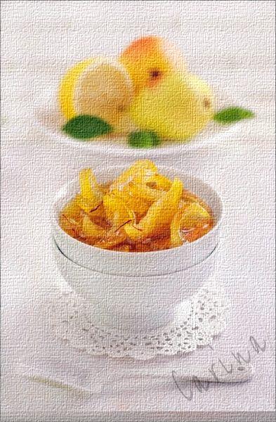 Pear lemon confiture: Fruit