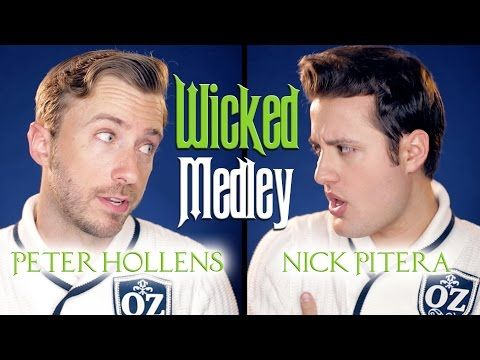 Wicked Medley - Peter Hollens It's not fair that guys can sing higher than I can and then proceed to sing way lower than I can!