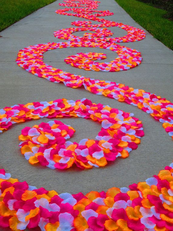 Custom Silk Rose Petal Swirl Aisle Runner by PetaleDeRose on Etsy, $200.00