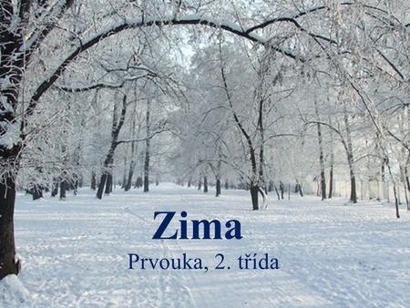Zima Prvouka, 2. třída. Zimu tvoří měsíce: ProsinecLedenÚnor.