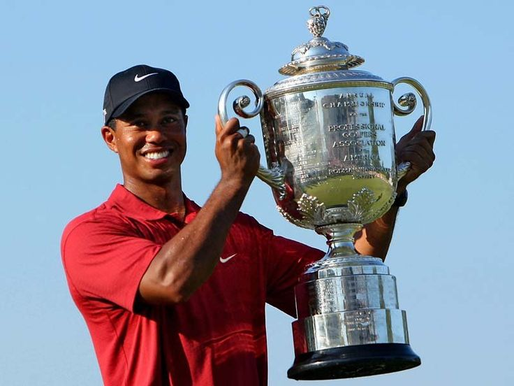"""Eldrick Tont """"Tiger"""" Woods (born December 30, 1975) is an African American professional golfer whose achievements rank him among the most successful golfers of all time. Formerly the World No. 1, he was the highest-paid athlete in the world for several years. Woods turned professional in 1996 & & won his first major, the 1997 Masters in a record-breaking performance.  Woods was the dominant force in golf,  264 weeks Aug 1999 to Sept 2004 & 281 weeks from June 2005 to Oct 2010 as world number…"""