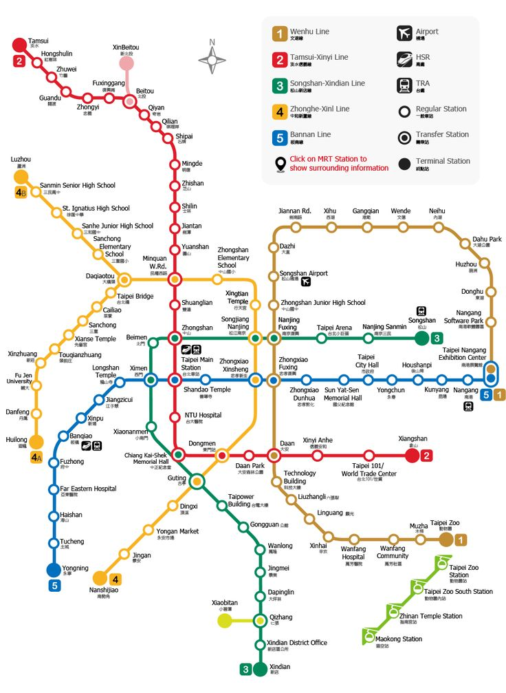 MRT (Taipei Mass Rapid Transportation): Taipei MRT Map, Attractions & Hotels nearby(旅遊王TravelKing)