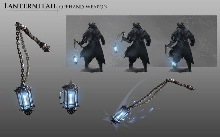 Bloodborne Fanart - Lanternflail weapon idea by daemonstar on DeviantArt