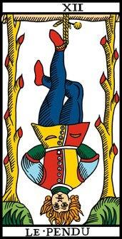 Arcano XII  (11). El Colgado. LE Pendu.   Tarot de Marsella.