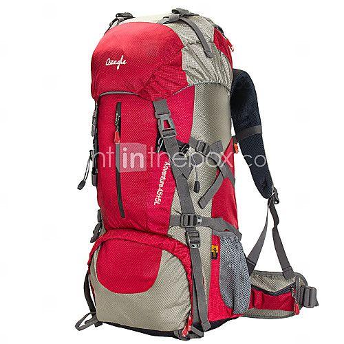50 L Backpacker-ryggsäckar Camping / Klättring Utomhus / Öva Vattentät / Regnsäker / Bärbar / MultifunktionellRöd / Svart / Blå / - SEK kr356