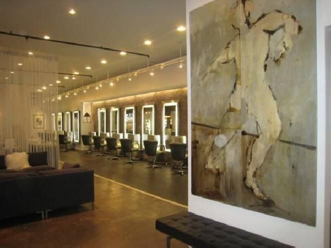 354 best hair sal0n images on pinterest beauty salons hair salon the interior of the sam brocato salon in nyc is illuminated by minardi color perfect lighting winobraniefo Image collections