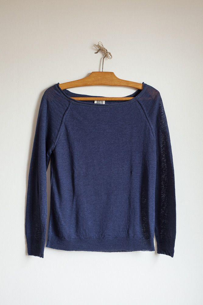 Mode Éhtique > JUSTE, La révolution textile avec son magnifique PULL OLYMPE 100 % LIN