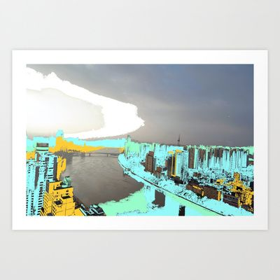 Cloudy Day Art Print by lookiz - $16.64