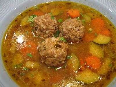 My FAVORITE soup!! Albondigas Soup es Muy Delicioso!! Going to try this recipe - since I can't seem to get enuf!! ;)