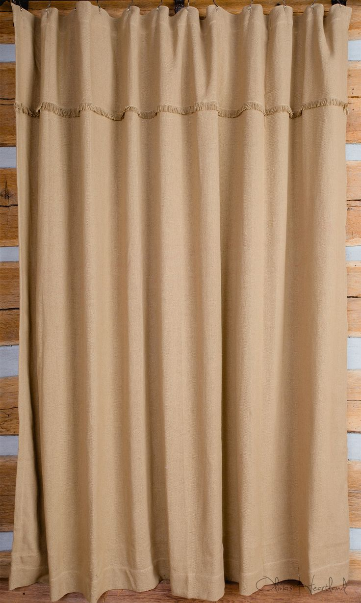Deluxe Burlap Natural Tan Shower Curtain