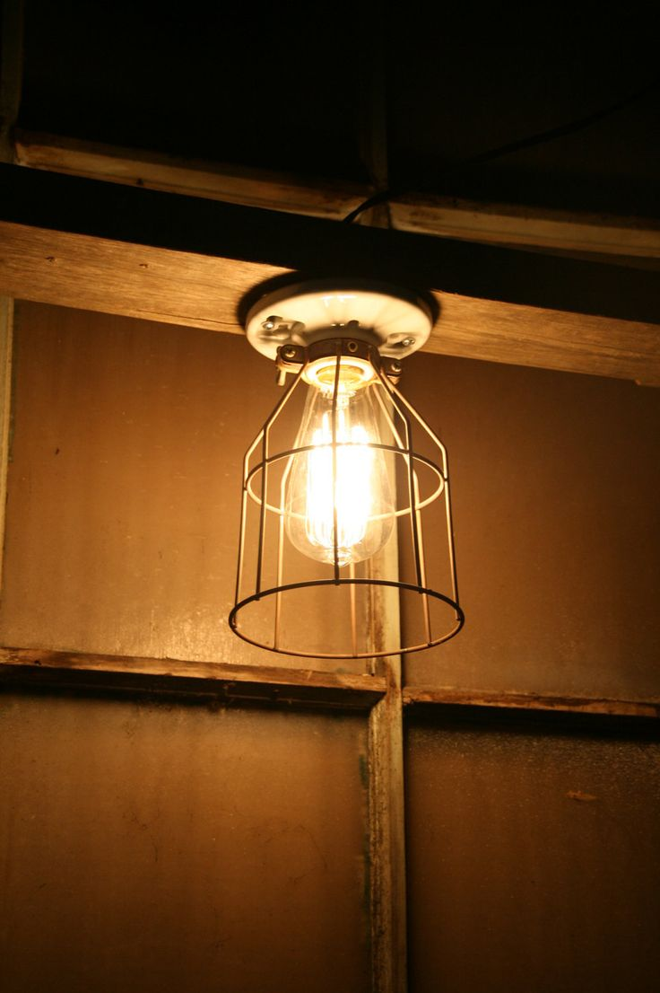 34 best lighting images on pinterest lamps pipe lighting and pipes industrial light vintage style porcelain mount fixture with metal wire cage guard 2200 via arubaitofo Images
