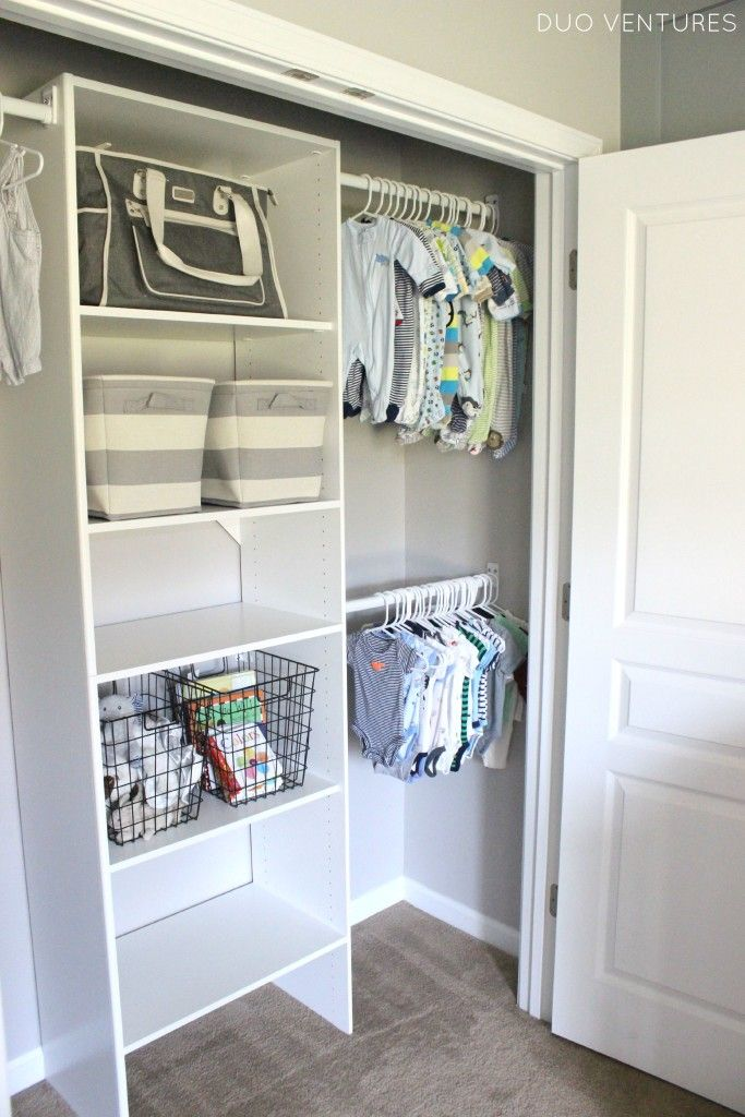 The 25+ best Nursery closet organization ideas on Pinterest | Baby closet  organization, Baby room storage and Toddler closet organization